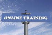 Online training road sign  — Stock Photo
