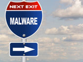 Malware road sign  — Stock Photo