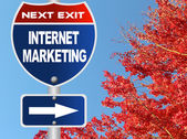 Internet marketing road sign  — Stock Photo