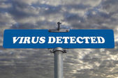 Virus detected road sign  — Stock Photo