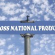 Gross natuional product road sign — Stock Photo #43079917
