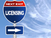 Licensing road sign — Stock Photo