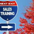 Sales training road sign — Stock Photo #43807159