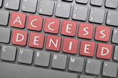 Access denied on keyboard — Stock Photo