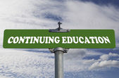 Continuing education road sign — Stock Photo