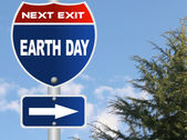 Earth day road sign — Stock Photo