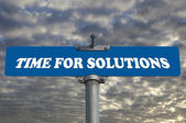 Time for solutions road sign — Stock Photo