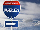 Paperless road sign — Stock Photo