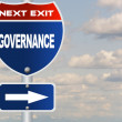 Governance road sign — Stock Photo #44722419