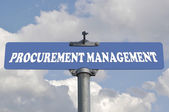 Procurement management road sign  — Stock Photo