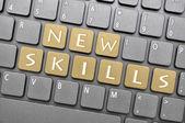 New skills on keyboard — Stock Photo