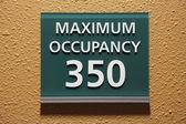 Signe de l'occupation maximale 350 — Photo