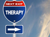 Therapy road sign — Stock Photo
