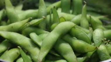 Steamed Edamame — Stock Video