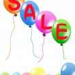 Colorful balloons and discount sale — Stock Photo #4747393