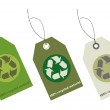 Recycle tags for environmental design — Stock Photo #4749204
