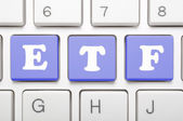 Exchange traded fund key on keyboard — Stock Photo