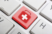 First aid on keyboard — Foto Stock