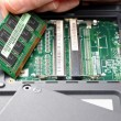 Installing new ram for your laptop — Stock Photo #4881812