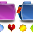 Abstract colorful folders and tags — Stock Photo #5305478