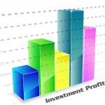 Investment profit column chart — Stock Photo #5997427
