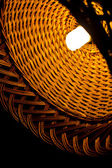 Wicker lamp — Stock fotografie