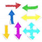 Set of coloured arrows — Stock Vector