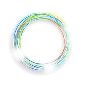 Coloured circle frame — Stock Vector
