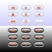 Botones web — Vector de stock