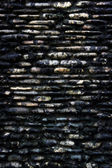 Old black wall background — Stock Photo
