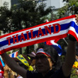 Sign of protesters shut down Bangkok — Stock Photo