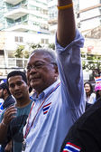 PDRC leader Suthep Thaugsuban continue the shutdown Bangkok camp — Stok fotoğraf