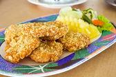 Curry fisch kuchen — Stockfoto