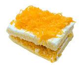 золотой яичные желтки поток торт — Стоковое фото