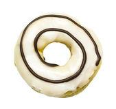 White donut isolated — Stock fotografie
