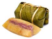 Thai dessert called Khao Tom Mad — Stock Photo