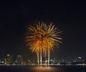 Fireworks international festival Pattaya, Thailand — 图库照片