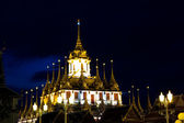 Loha Prasat Metal Palace at night — Stock Photo