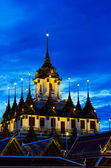 Loha Prasat Metal Palace at twilight time — Stock Photo