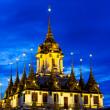 Loha Prasat Metal Palace in twilight time — Stock Photo