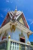 Temple with blue sky on mountain — Stock Photo