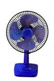 Blue table fan — Stock Photo