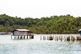 Hut in the sea Koh Chang islands, Thailand — Stock Photo