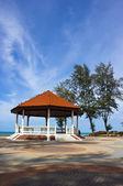 Public pavilion near the beach — Stock Photo