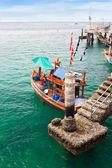 Pier for fisherman boat — Stock Photo
