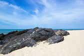 Samila beach with rock — Foto Stock