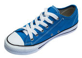 Fashion blue shoes isolated — 图库照片