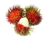 Rambutan isolated on white — Stockfoto