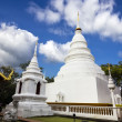 White pagoda in Wat Phra Singh Woramahaviharn — Stock Photo