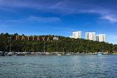 Pattaya city with blue sky — Stock Photo